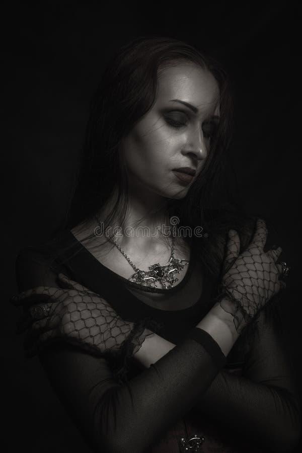 Gothic lady royalty free stock image