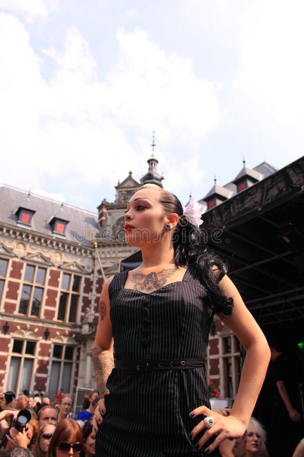 Download Gothic Model On The Catwalk Editorial Stock Photo - Image: 15744883