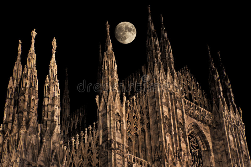 Download Gothic moonrise stock photo. Image of cathedral, moon - 4467502