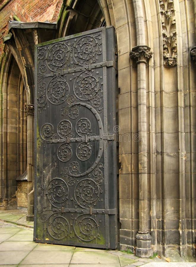 Gothic portal royalty free stock photography