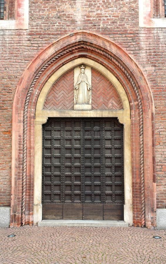 Gothic portal to the Church of the Coronation stock photos