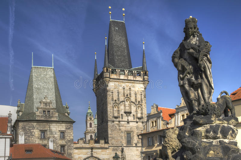 Gothic Prague royalty free stock photos