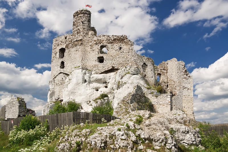 Gothic rocky castle. royalty free stock photos