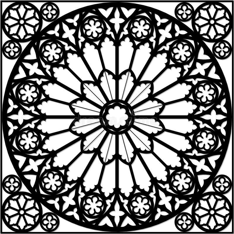 Free Gothic Rose Window Stock Image - 29156761