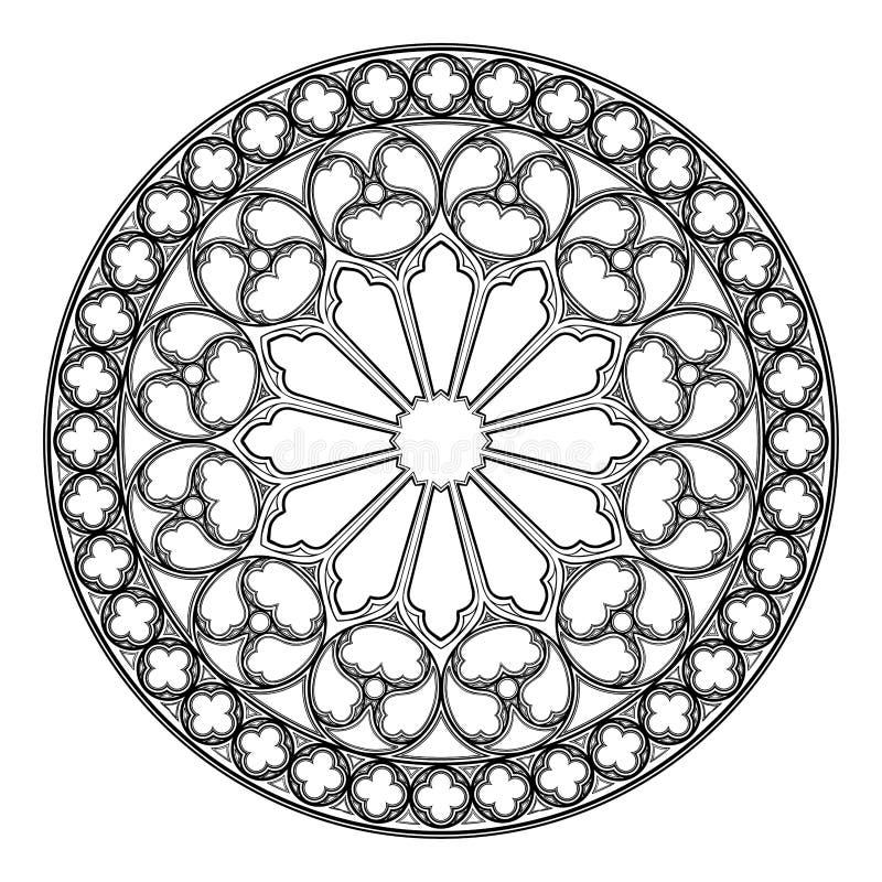 Free Gothic Rose Window. Popular Architectural Motiff In Medieval European Art Stock Photos - 136708163