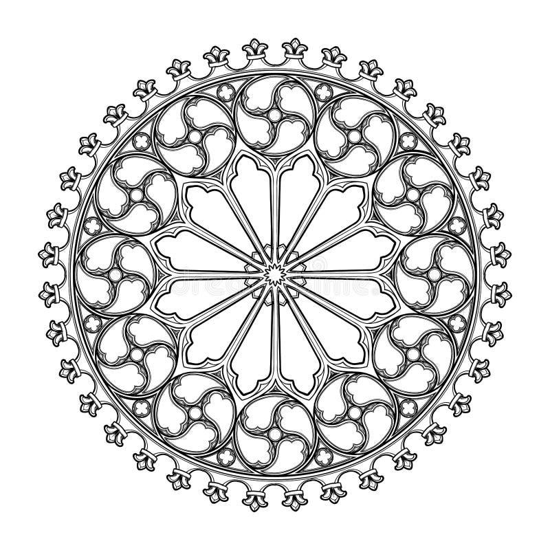 Free Gothic Rose Window. Popular Architectural Motiff In Medieval European Art Stock Image - 136708201