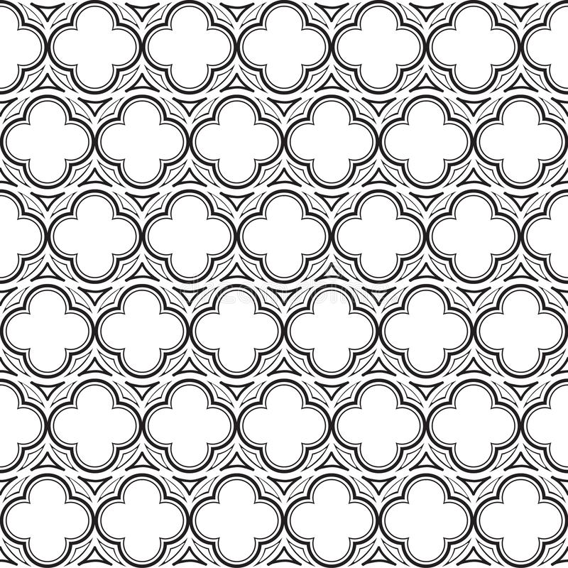 Free Gothic Rosette Seamless Pattern. Stock Images - 136708144