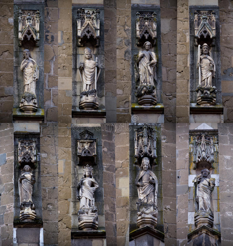 Gothic saints statues stock photos