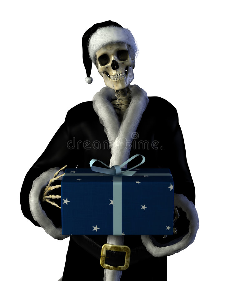 Gothic Santa stock photography