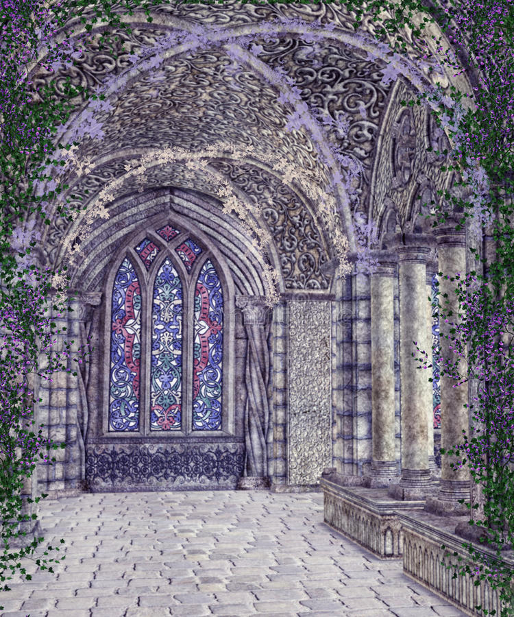 Gothic scenery 112 vector illustration