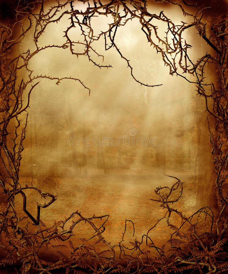 Gothic scenery 23 royalty free illustration