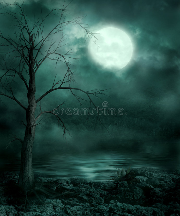 Gothic scenery 25 royalty free illustration