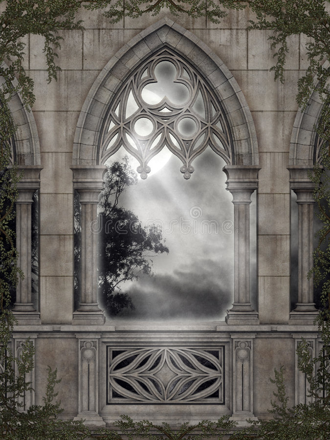 Gothic scenery 67. Gothic background for personal or commercial use