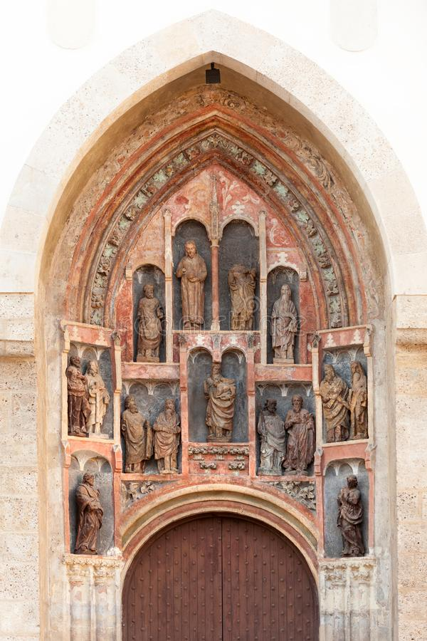 Gothic sculptures of Southern portal stock photos