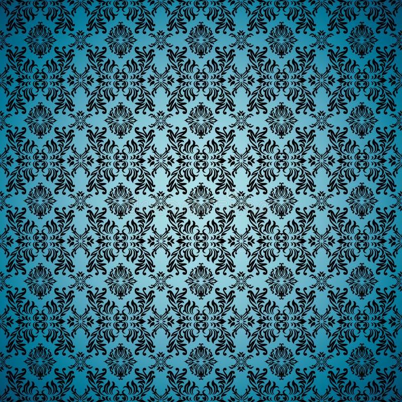 Gothic seamless blue wallpaper
