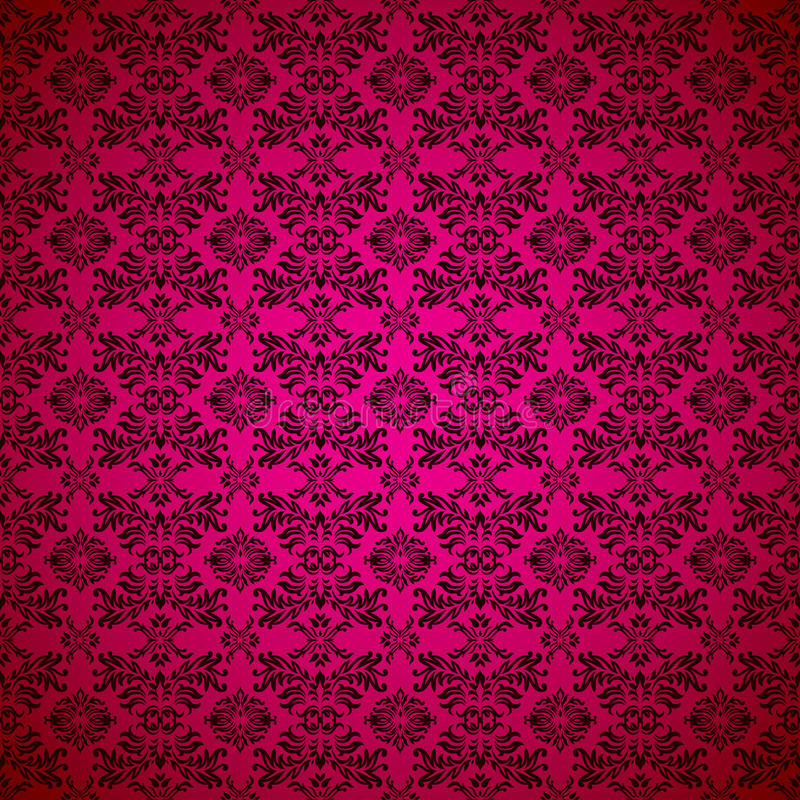 Download Gothic Seamless Pink Wallpaper Stock Vector