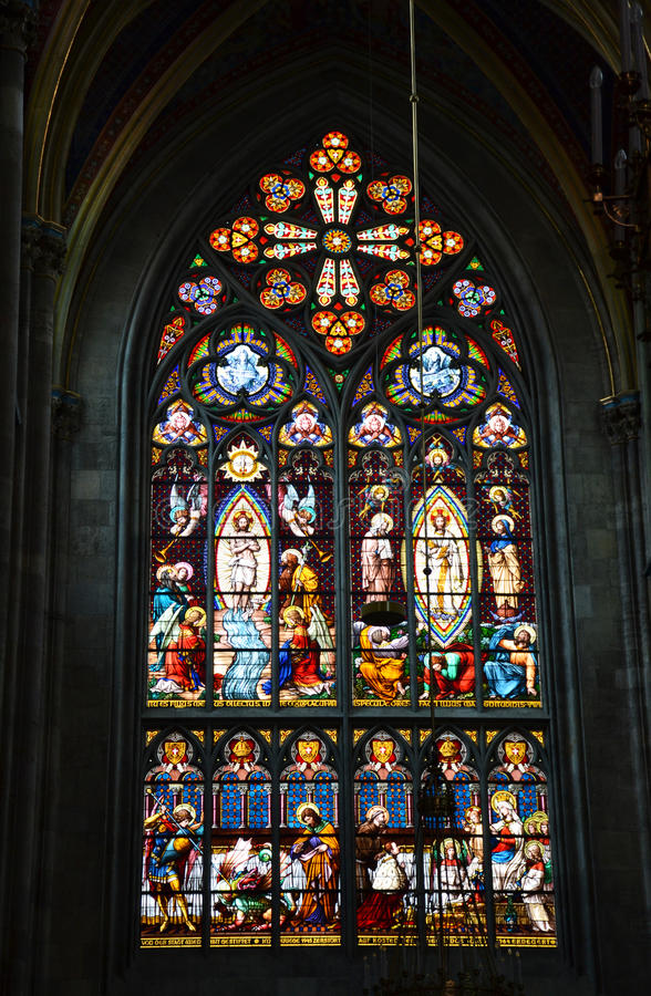 Download Gothic Stained Glass Window Stock Image