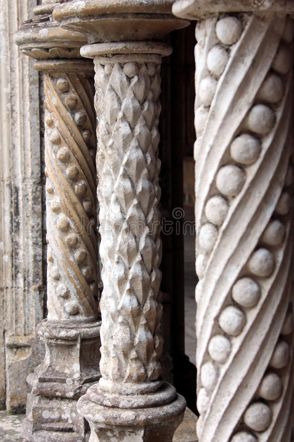 Download Gothic Stone Patterned Columns Architecture Stock Photo