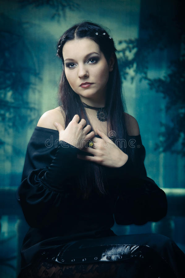 Gothic style. Girl in the Gothic style