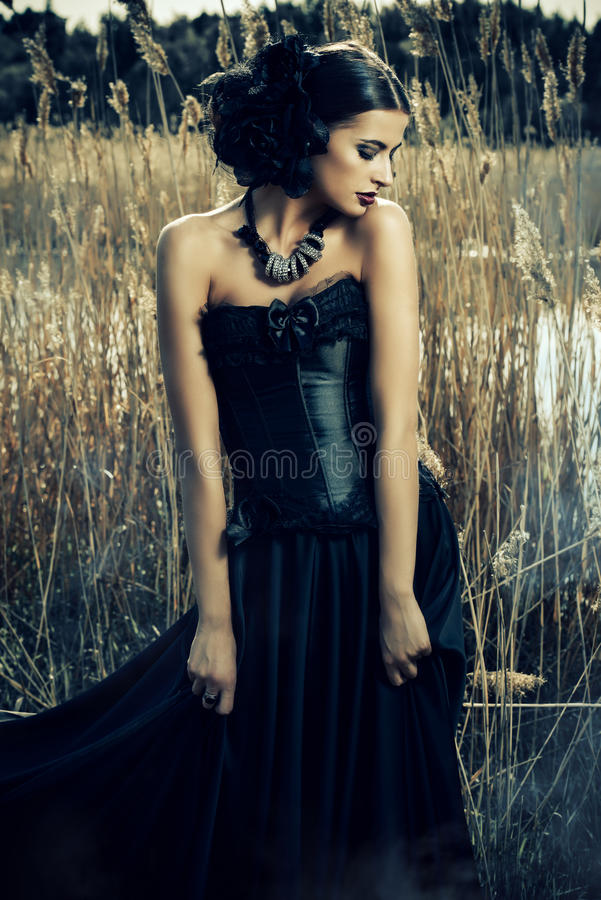 Download Gothic style stock image. Image of girl, dress, corset - 73495385