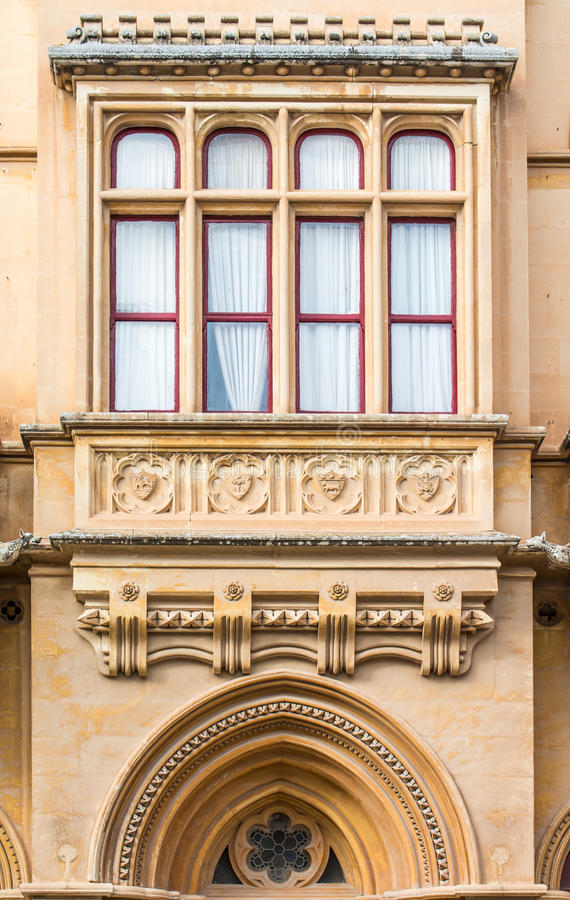 Gothic style building, Mdina, Malta royalty free stock photos