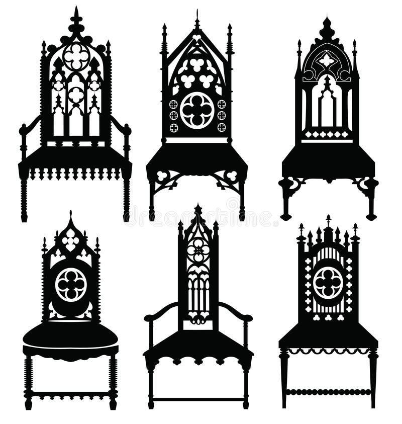 Download Gothic Style Chairs Set Stock Vector. Illustration Of Antique    73530748