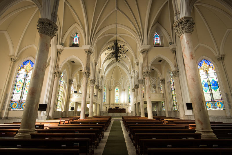 Gothic Style Church Interior stock photos