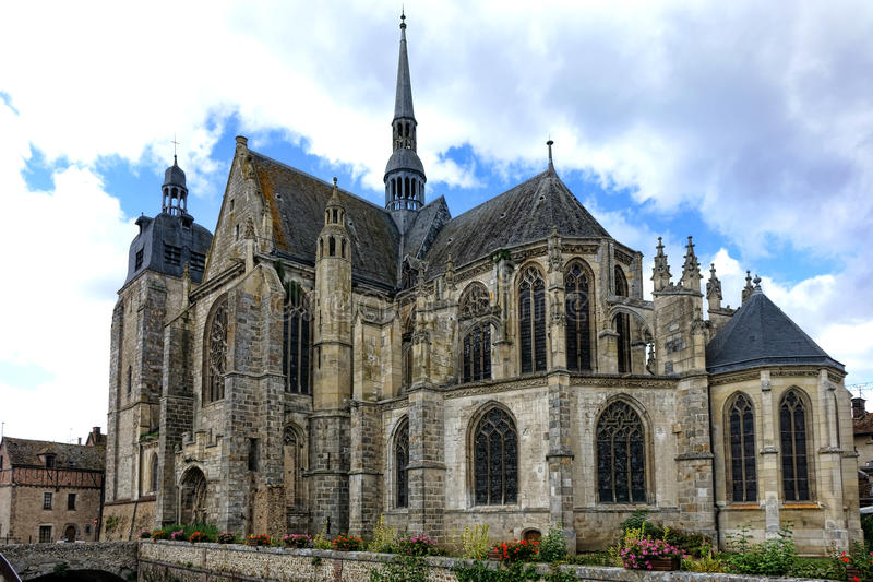 Download Gothic Style Church In Old French Town France Stock Image