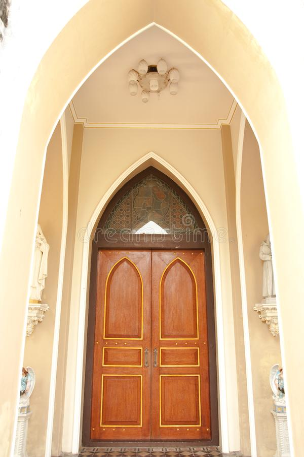 Download Gothic style door. stock image. Image of asia, pane, house - 8273711