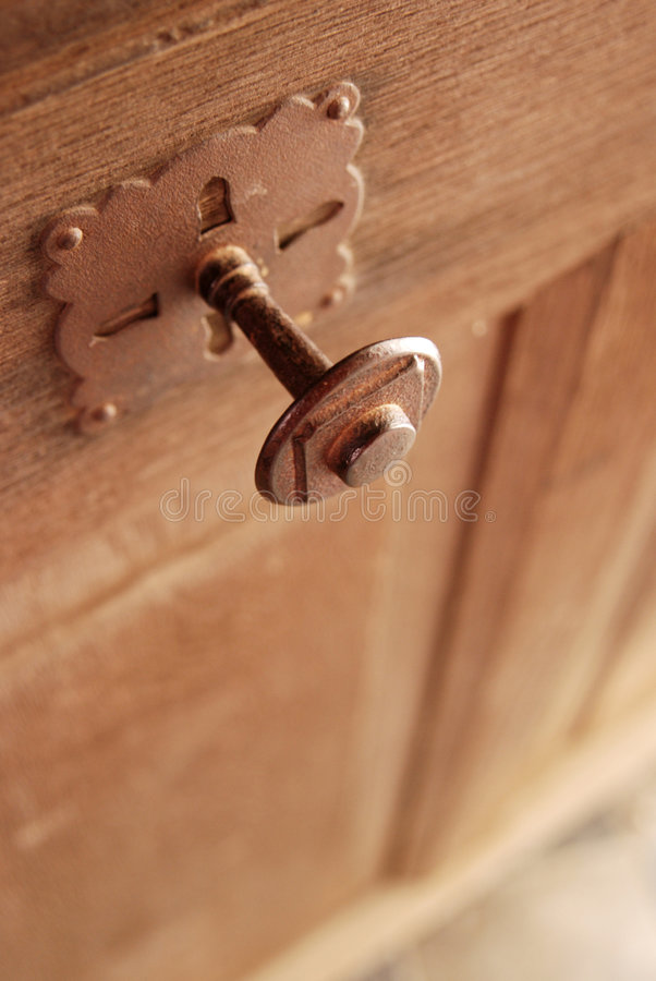 Gothic style door knob royalty free stock images