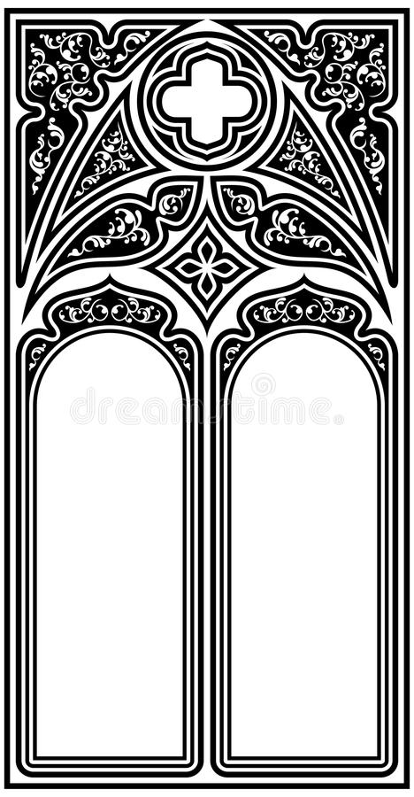 Download Gothic Style Frame Stock Vector Illustration Of Inside