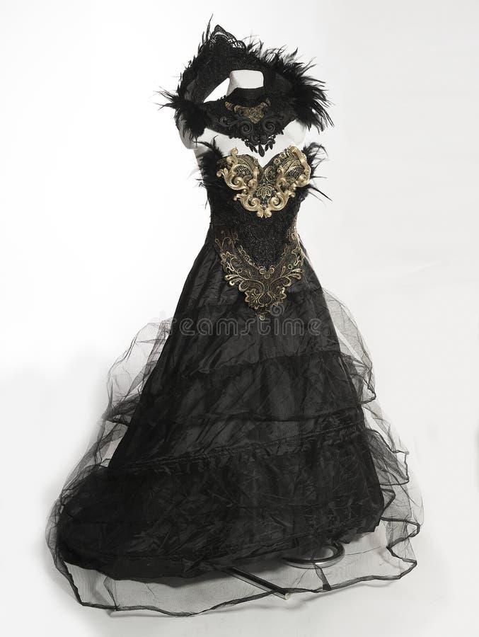 Free Gothic Style Handmade Dress With Black Lace Fabrics And Piezsa I Stock Photo - 110689650