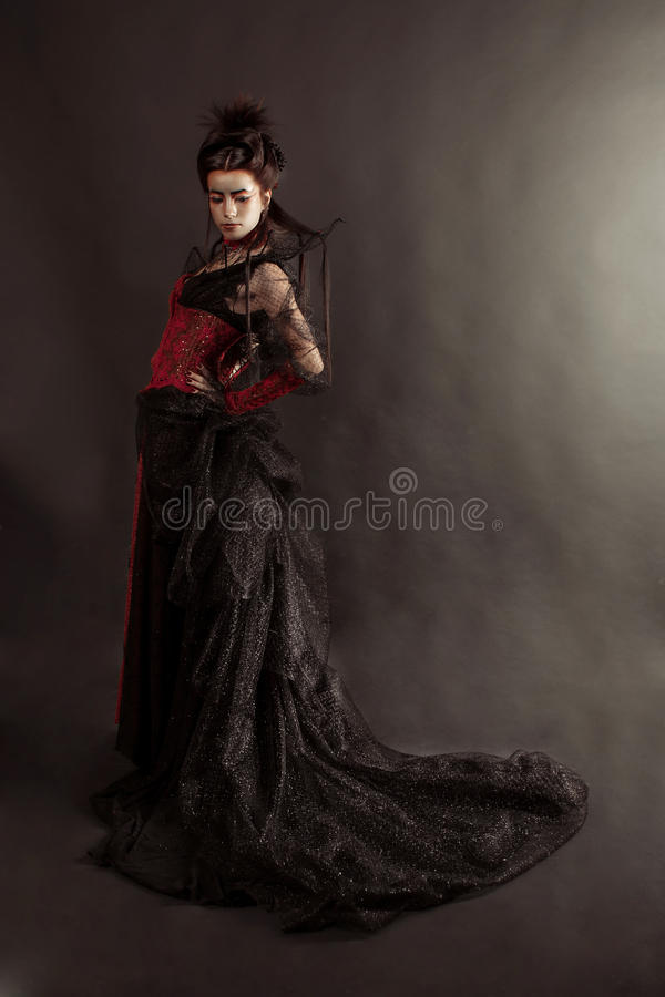 Gothic Style Model Girl Portrait royalty free stock photo