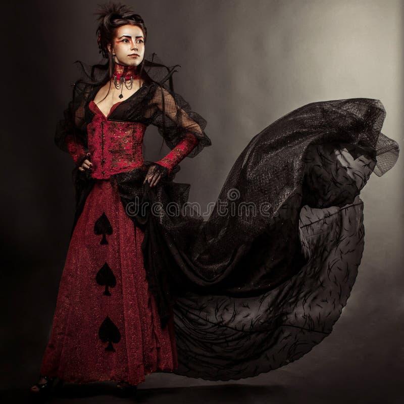 Gothic Style Model Girl Portrait. Fashion Gothic Style Model Girl Portrait stock image