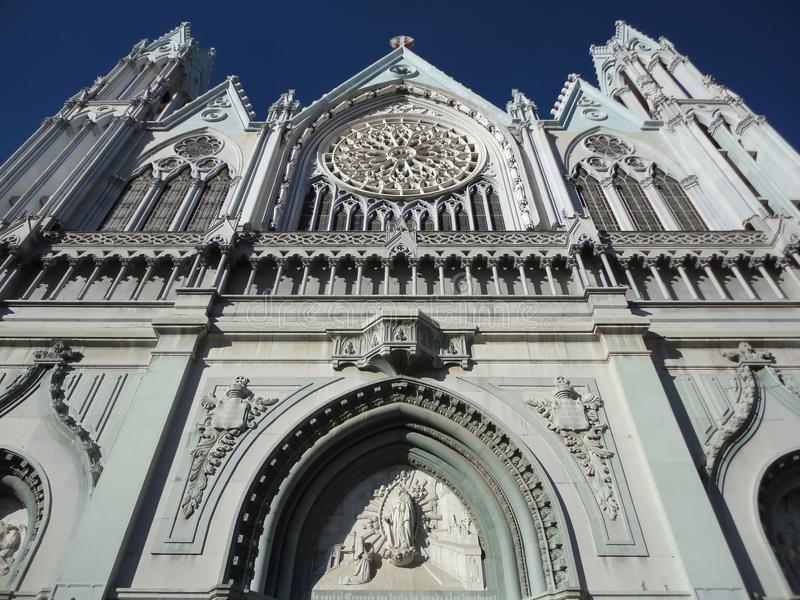 Gothic Templo Expiatorio. Photo of the templo expiatorio church in leon guanajuato mexico. This catholic church dates from the 19th century and features royalty free stock photography