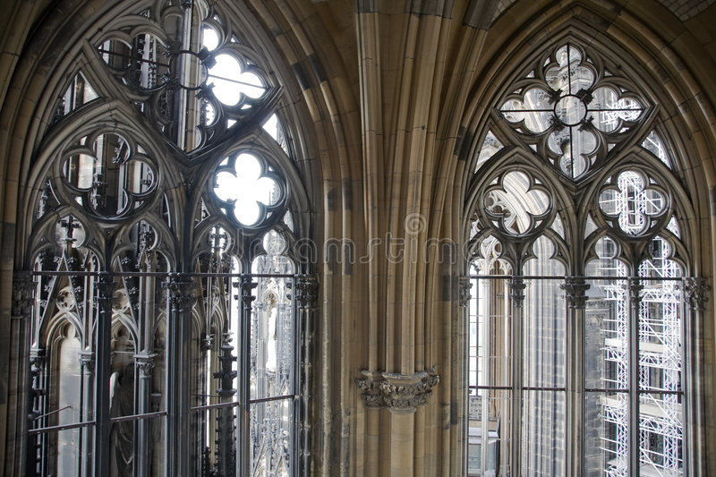Gothic tower decoration royalty free stock photography