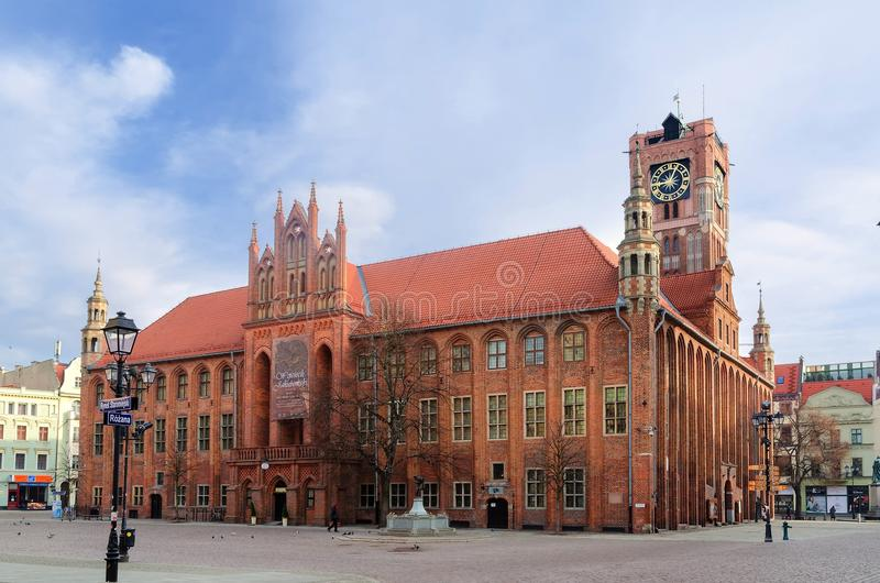 Download Gothic Town Hall. The Old Town In Torun, Poland Editorial Image - Image of tower, tourism: 55065205