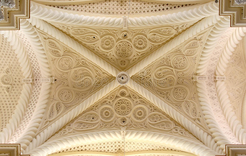 Gothic vault, erice, from above stock photography