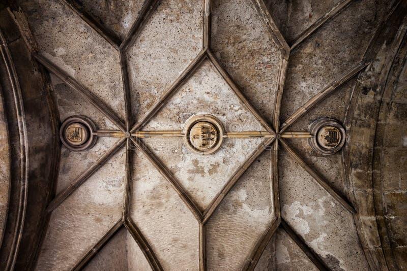 Gothic Vault of Sigismund Gate royalty free stock photography