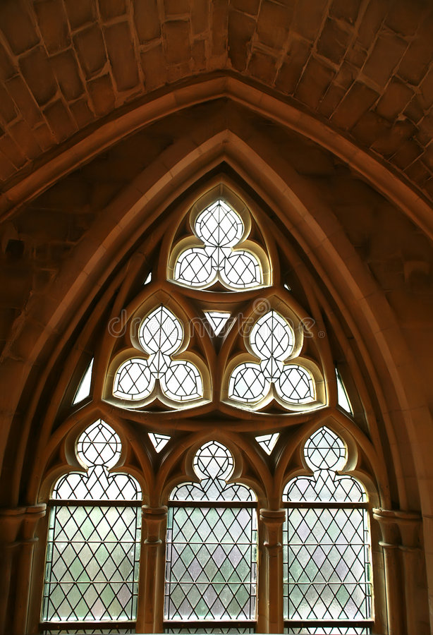 Gothic window. Background with typical Gothic window royalty free stock photography