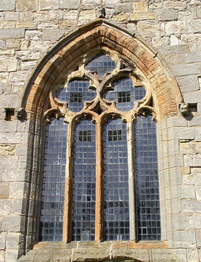 Gothic Window. At Torphichen Preceptory stock images