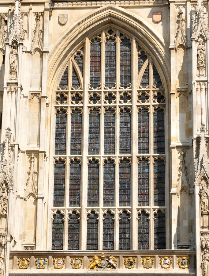 Gothic window. Architectural detail of Gothic window royalty free stock photography