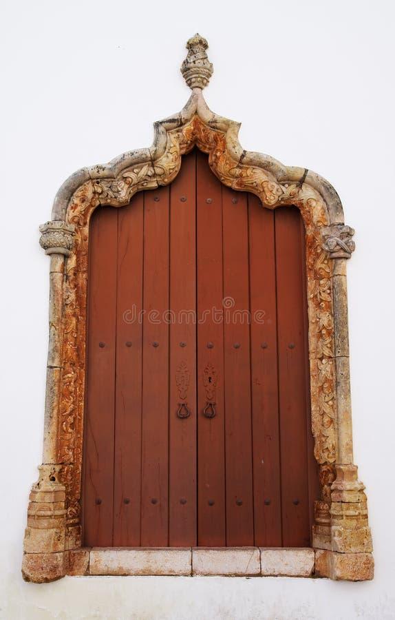 Gothic window frame royalty free stock photos