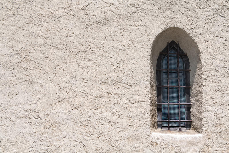 Gothic window. In a mountain church - space for writing royalty free stock photography
