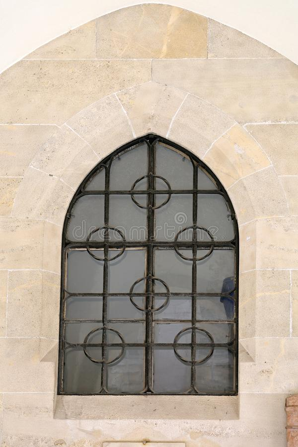 Gothic Window. At Old Church in Vienna royalty free stock photography