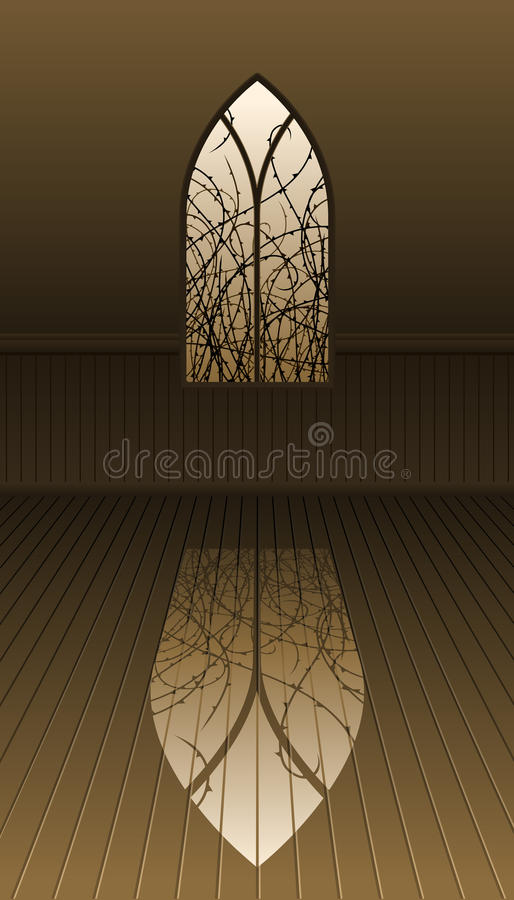 Download Gothic window with thorns stock vector. Image of twilight - 19599060