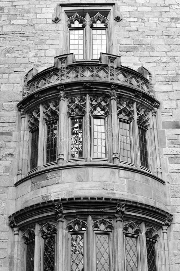 Gothic windows royalty free stock images