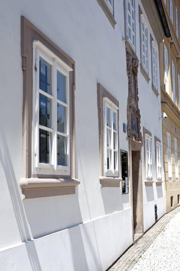 Gothic windows in Prague royalty free stock image