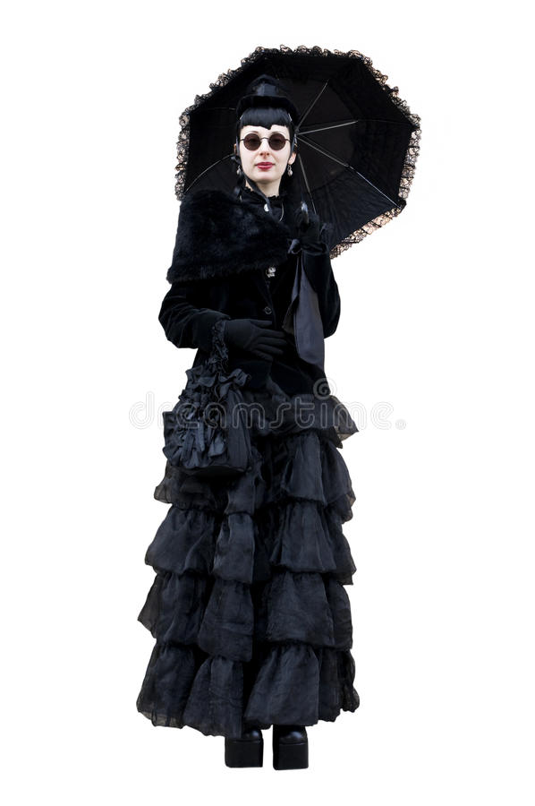Gothic woman stock image