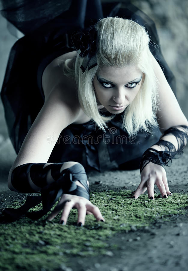 Gothic Woman Stock Photography